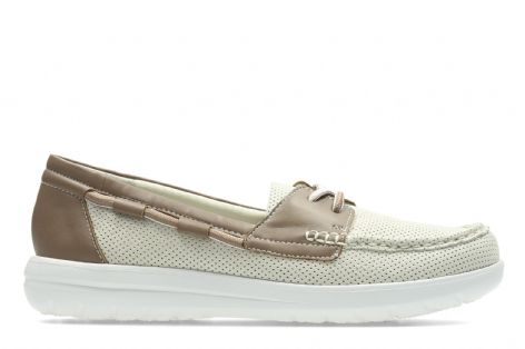 Clarks Womens Jocolin Vista Off-White Shoes